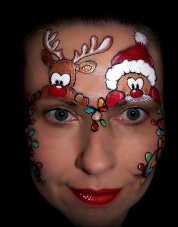 Christmas Face Paint.Christmas Face Painting Images Christmas Face Painting