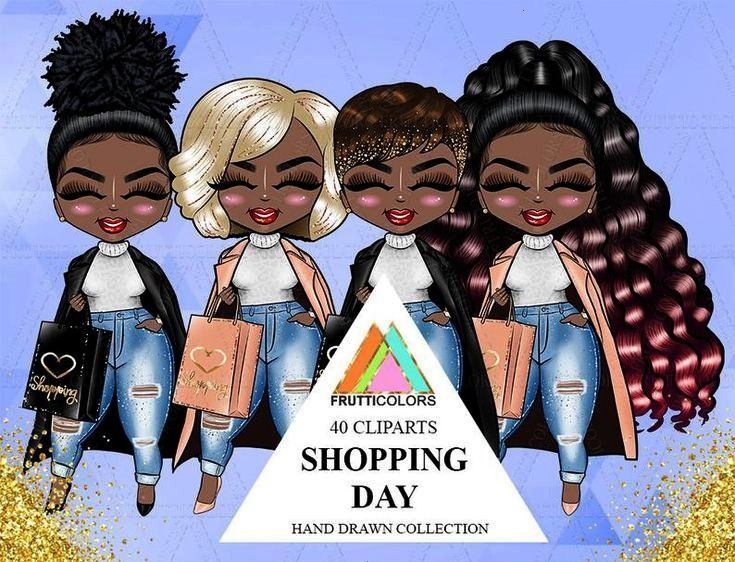 Day Doll Clipart African American Planner Afro Dolls Fall Fashion Daily Task Girl Au... Cute Doll