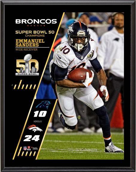 2ce2fbf14 Emmanuel Sanders Denver Broncos Super Bowl 50 Champions 10.5