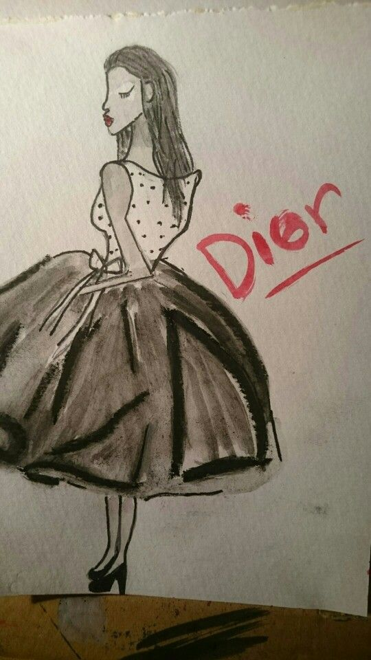J'adore dior. Personal illustration by A Denton
