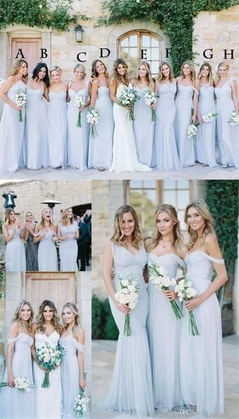 2020 Chiffon Cheap Custom Popular Mismatched Fashion Bridesmaid Dresses, bridals dresses, PD0367