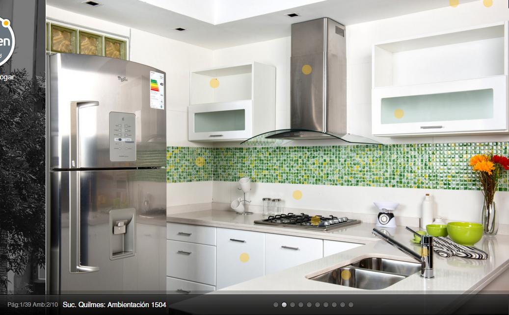 Idea para cocina: muebles y venecitas #kitchen #color en ...