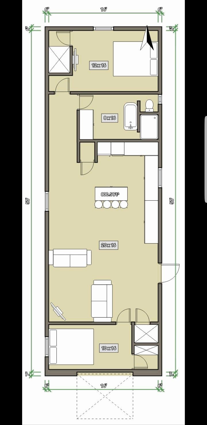 50 X 50 House Plans Lovely 16 X 50 House Cabin Our Home In 2019 Shed House Plans Cabin House Plans Tiny House Cabin