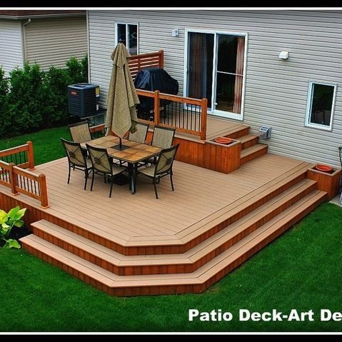 two tier decks design ideas pictures remodel and decor architectural landscape design - Decks Design Ideas