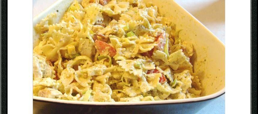 Kramig Kyckling Och Bacon Pastasallad Recept Med Bilder