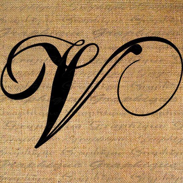 Calligraphy V Google Search Letter V Tattoo Lettering