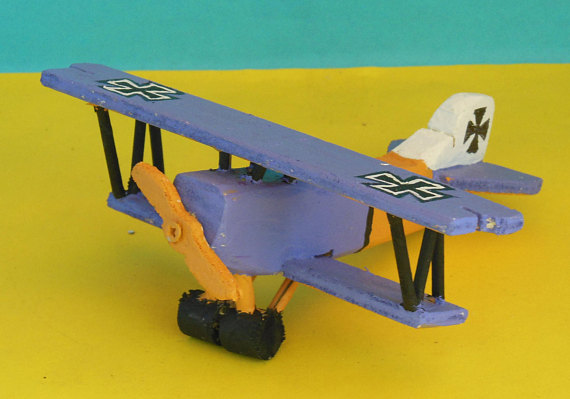 Wooden Toy Fokker D.VII Airplane