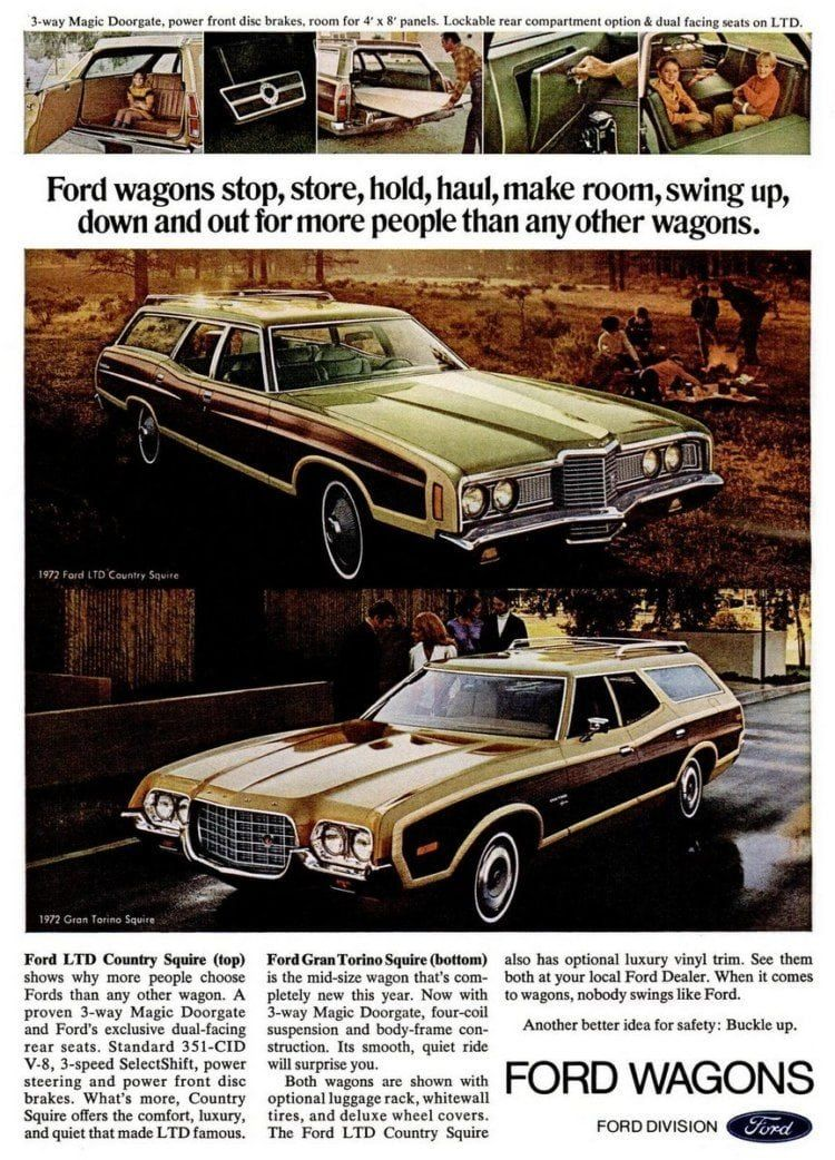 Ford Gran Torino Squire Station Wagons 1973 1974 Ford Ltd