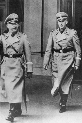 Himmler with Heydrich in Vienna