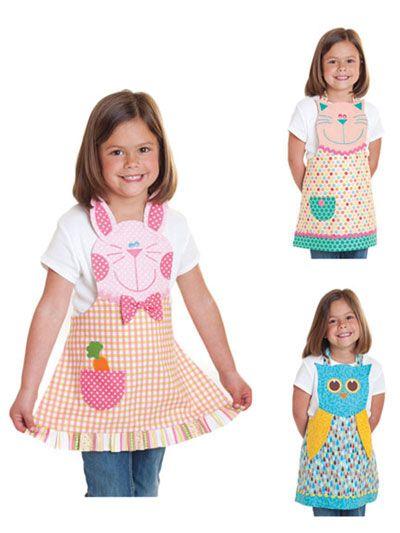 Fun Friends Child Apron Sewing Pattern
