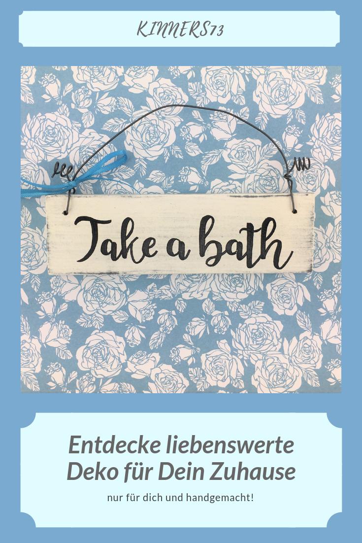 Holzschild Turschild Take A Bath Badezimmer Wc Bad Vintage Handgemacht Tur Zuhause Hangedekoration Dekor Weiss Geschenk Unique Gifts Sell On Etsy Etsy Finds