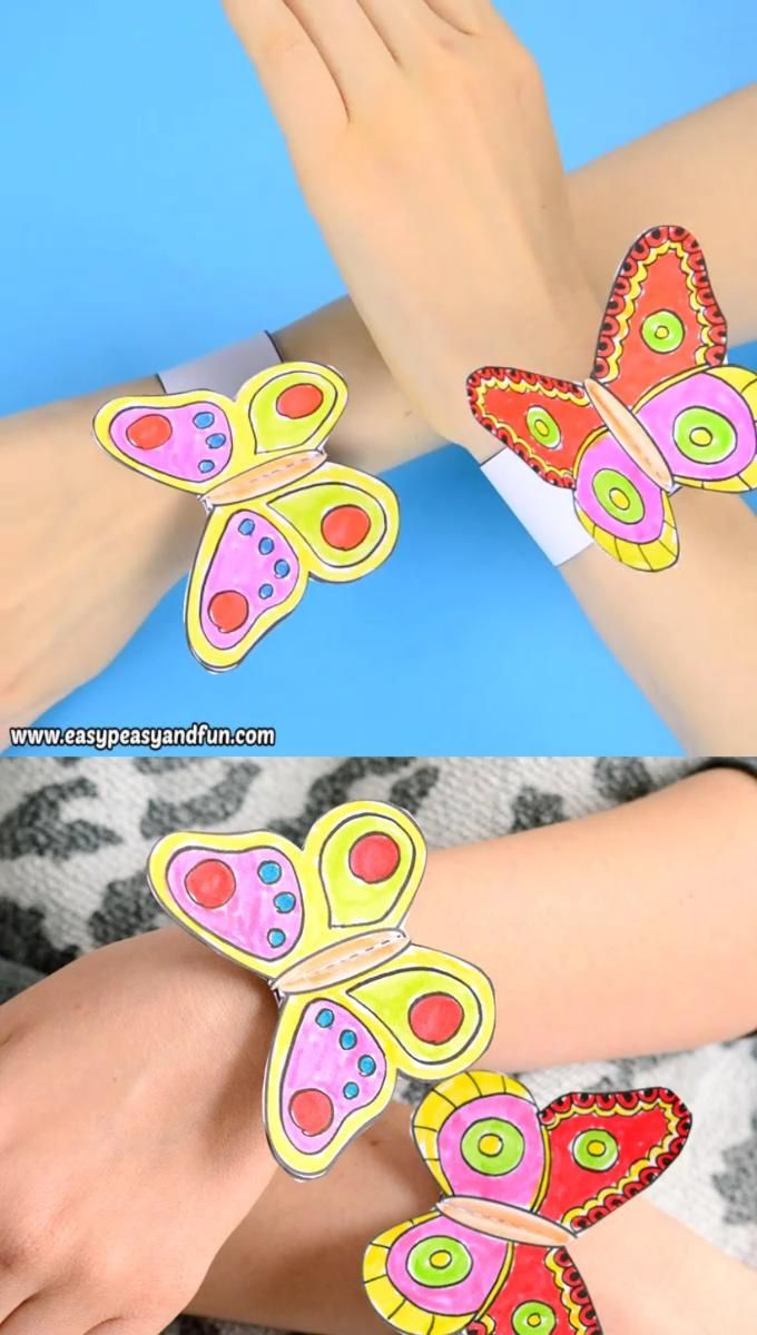 Photo of smart Butterfly Paper Bracelets for Kids they will like it fro sure!