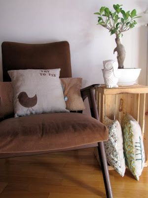 cushions and owl
