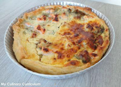 My Culinary Curriculum: Quiche au saumon et aux poireaux (Salmon and leeks...