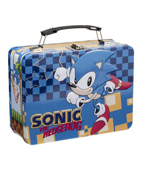 Sonic The Hedgehog Metal Lunch Box Zulily Tin Lunch Boxes Sonic The Hedgehog Sonic