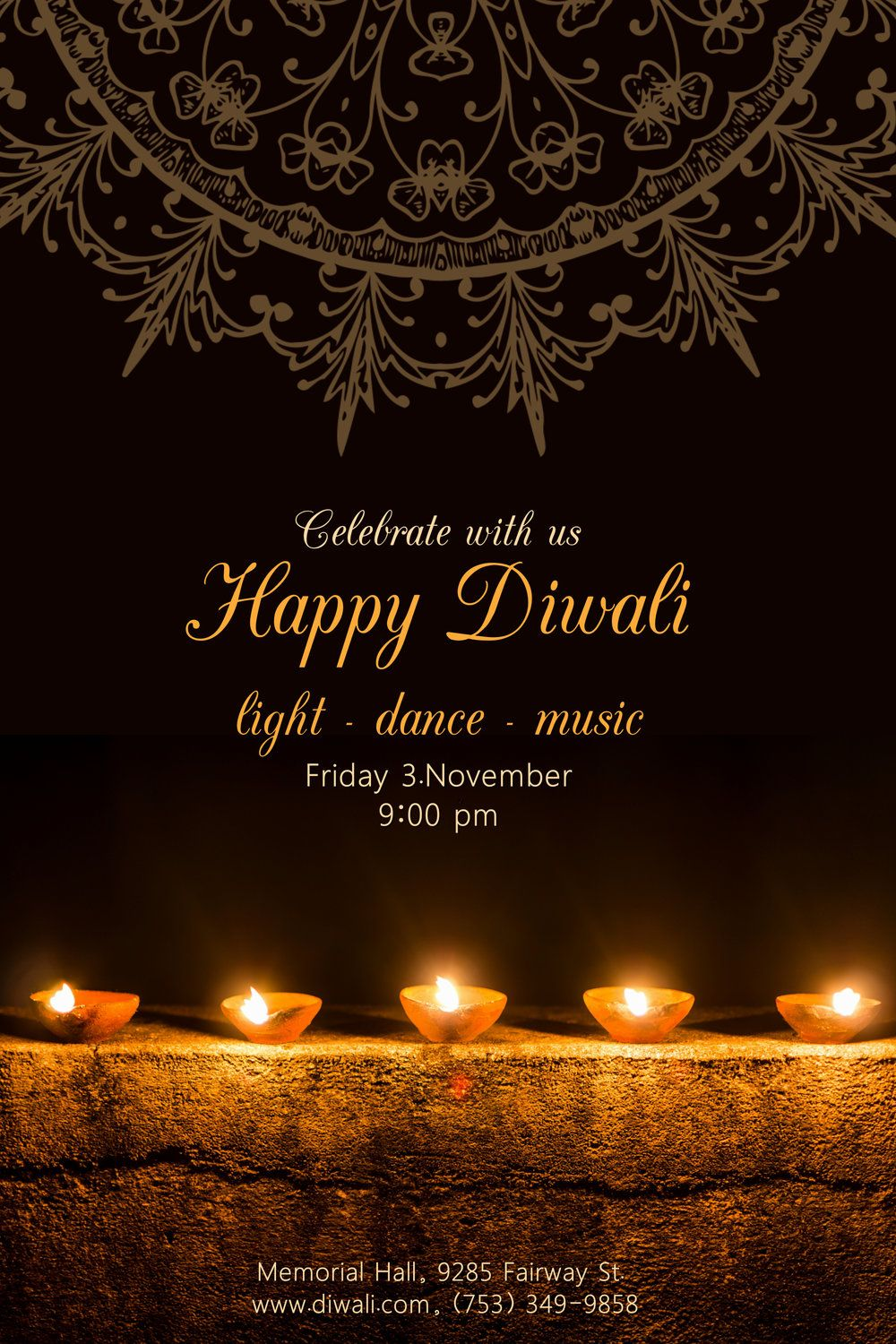 11 Stunning Diwali Posters To Customize Now Design Studio Happy Diwali Poster Happy Diwali Photos Happy Diwali Wallpapers