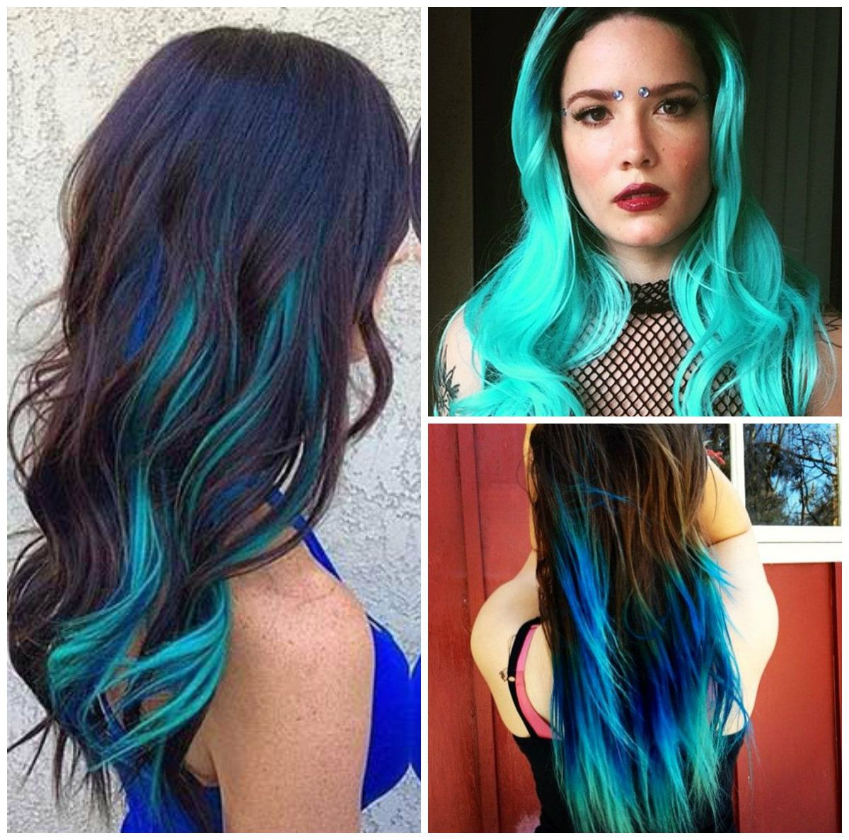 image result for funky long hairstyles and color for older