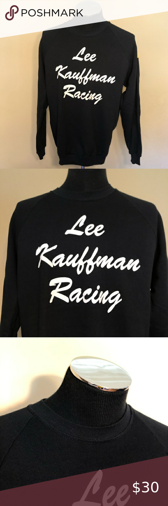Vintage Lee Kauffman Racing Crew Neck Sweatshirt Vtg Lee Kauffman Racing Team Crew Neck Sweatshirt Size Xl C Crew Neck Sweatshirt Sweatshirts Sweatshirt Shirt [ 1740 x 580 Pixel ]