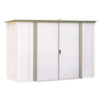 Arrow 8 Ft W X 3 Ft D White Galvanized Metal Garden Shed Gs83 The Home Depot Shed Storage Steel Storage Sheds Metal Shed
