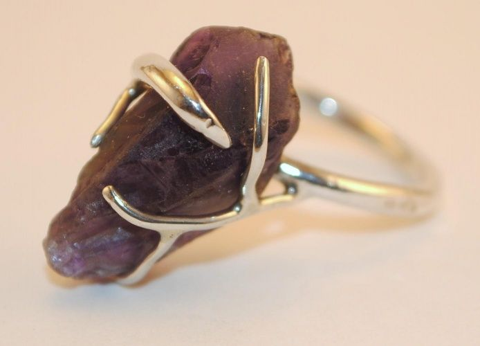 Sandy Maggio Jewelry :: Rings :: Rough Cut Amethyst & Sterling Silver Ring