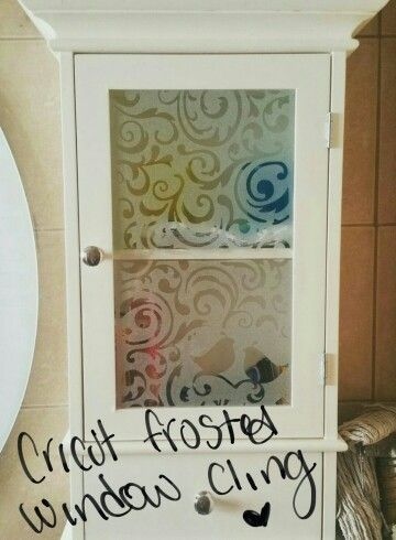 Beautiful Diy Frosted Design Using Cricut Window Cling Vinyl Clings