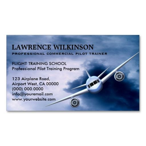 Commercial plane in sky aviation business cards pilot business commercial plane in sky aviation business cards colourmoves