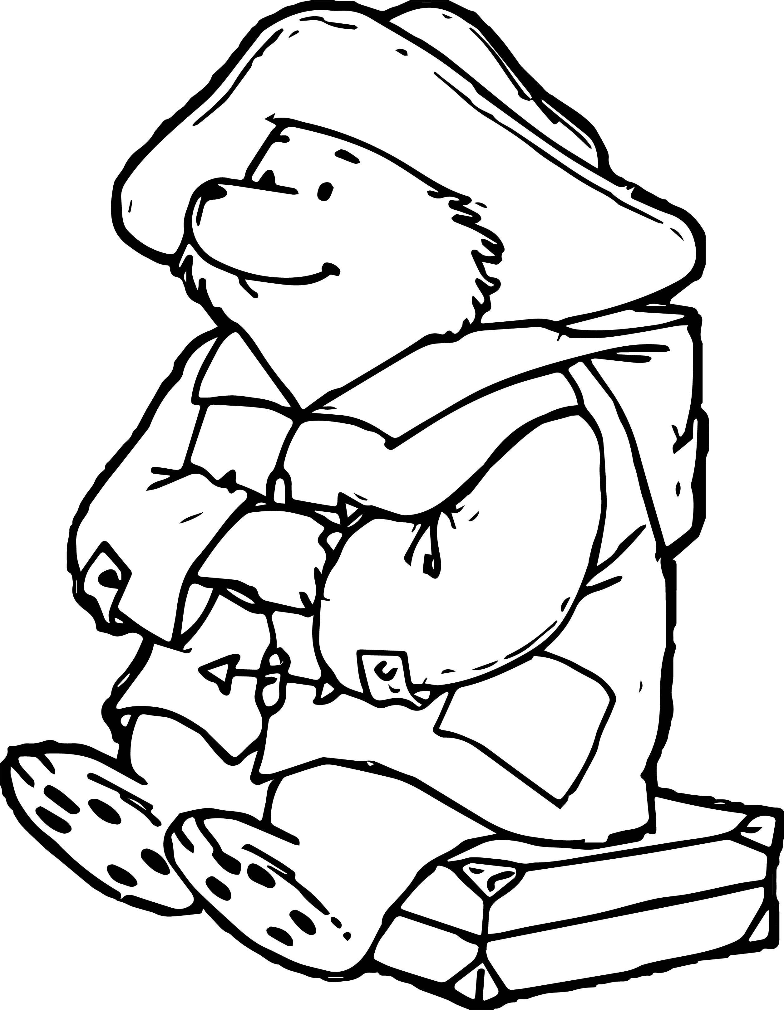 Nice Large Bear Coloring Page Bear Coloring Pages Largest Bear Paddington Bear