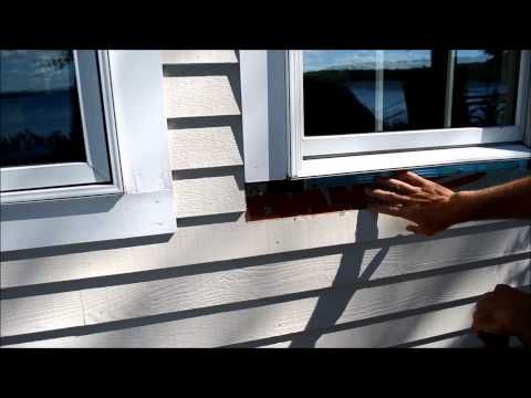 How To Replace Exterior Window Trim Video Window Trim Exterior Vinyl Window Trim Windows Exterior