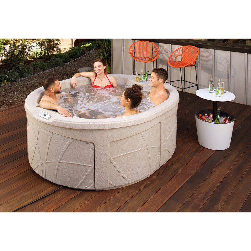 Rock Solid Luna 4 Person 13 Jet Plug And Play Hot Tub Hot Tub