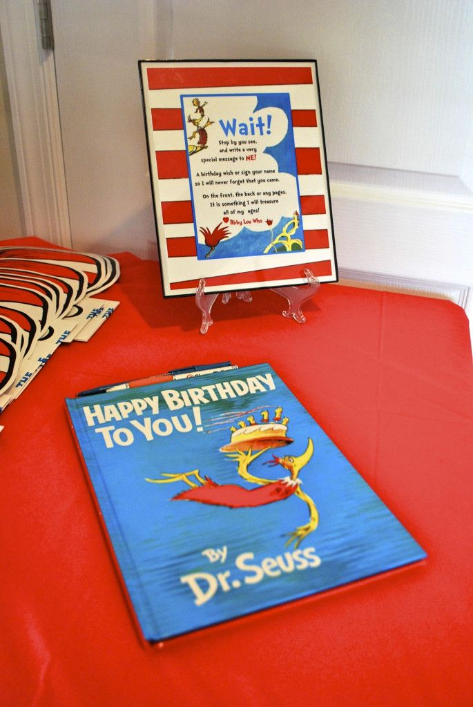 a817a0a87 Abigail's Dr. Seuss Themed First Birthday Party | Kid Party Info for ...
