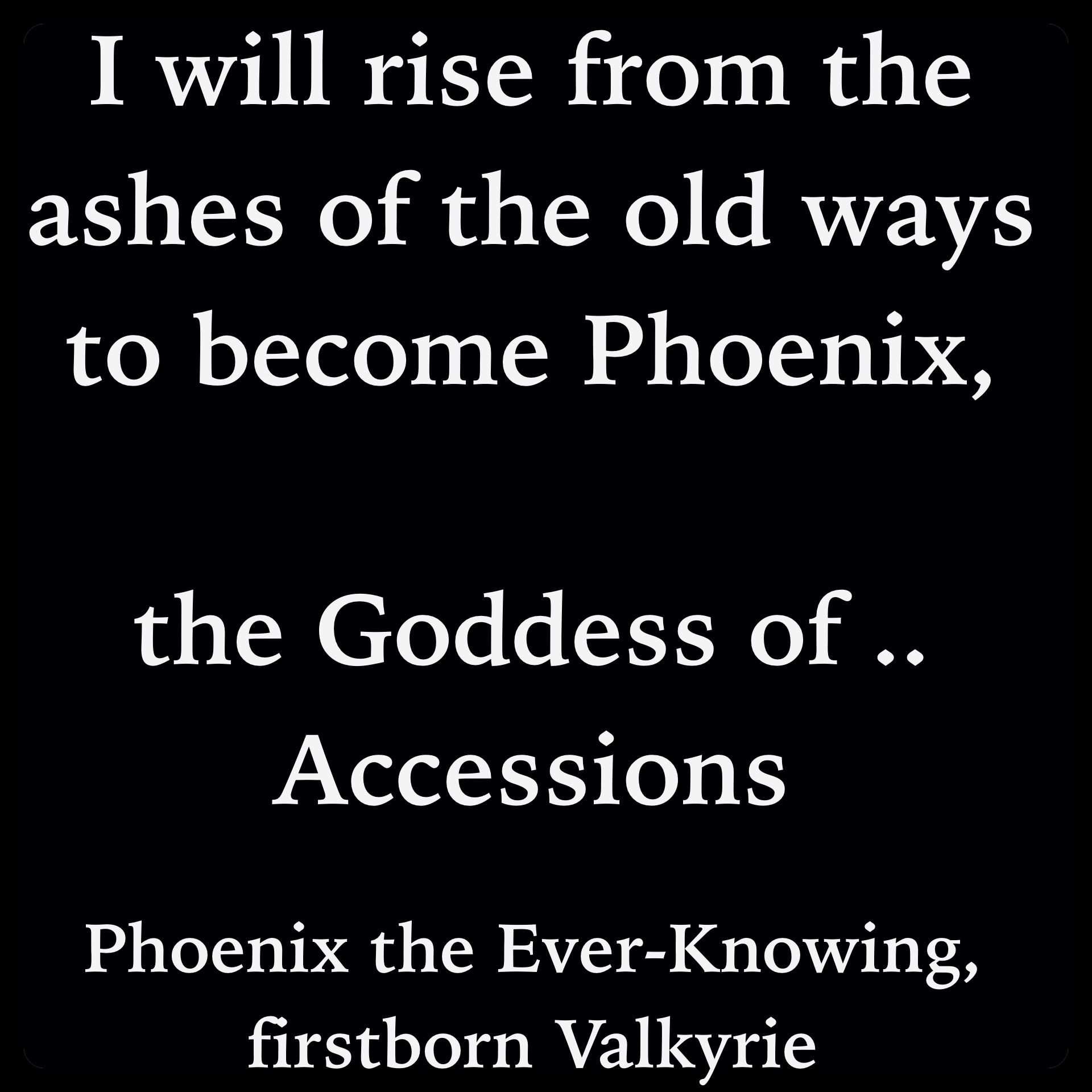 Love Fantasy Quotes: Phoenix The Ever-Knowing, Firstborn Valkyrie (Dark Skye By