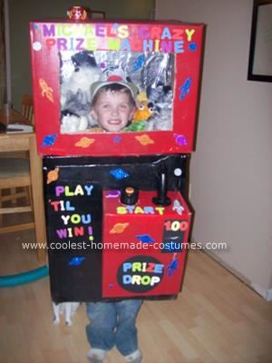 Homemade Claw Machine Halloween Costume: We decided on making the Homemade Claw Machine Halloween Costume after seeing it on your website for my 8 yr old ...