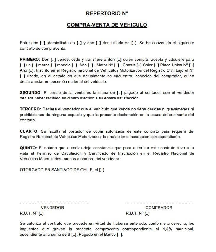 Plantillas De Contrato De Compraventa De Vehículos Desencadenado Contrato De Compraventa Contrato Venta De Vehiculos