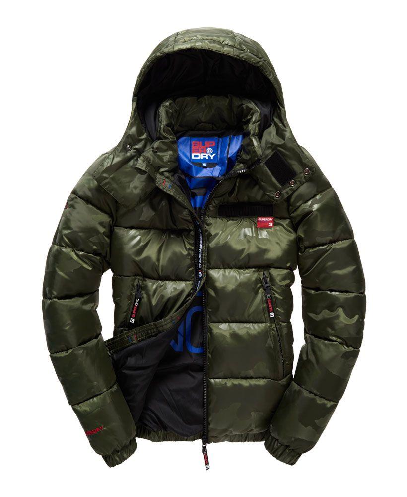 Mens Tri Racing Camo Puffer Jacket In Green Camo Camo Puffer Jacket Mens Jackets Casual Jackets [ 1000 x 820 Pixel ]