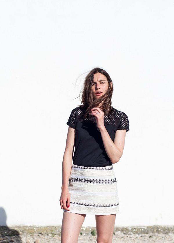 126304f51d20 Sézane   Morgane Sézalory - CAMARGUAISE - Mason skirt -  sezane www.sezane.