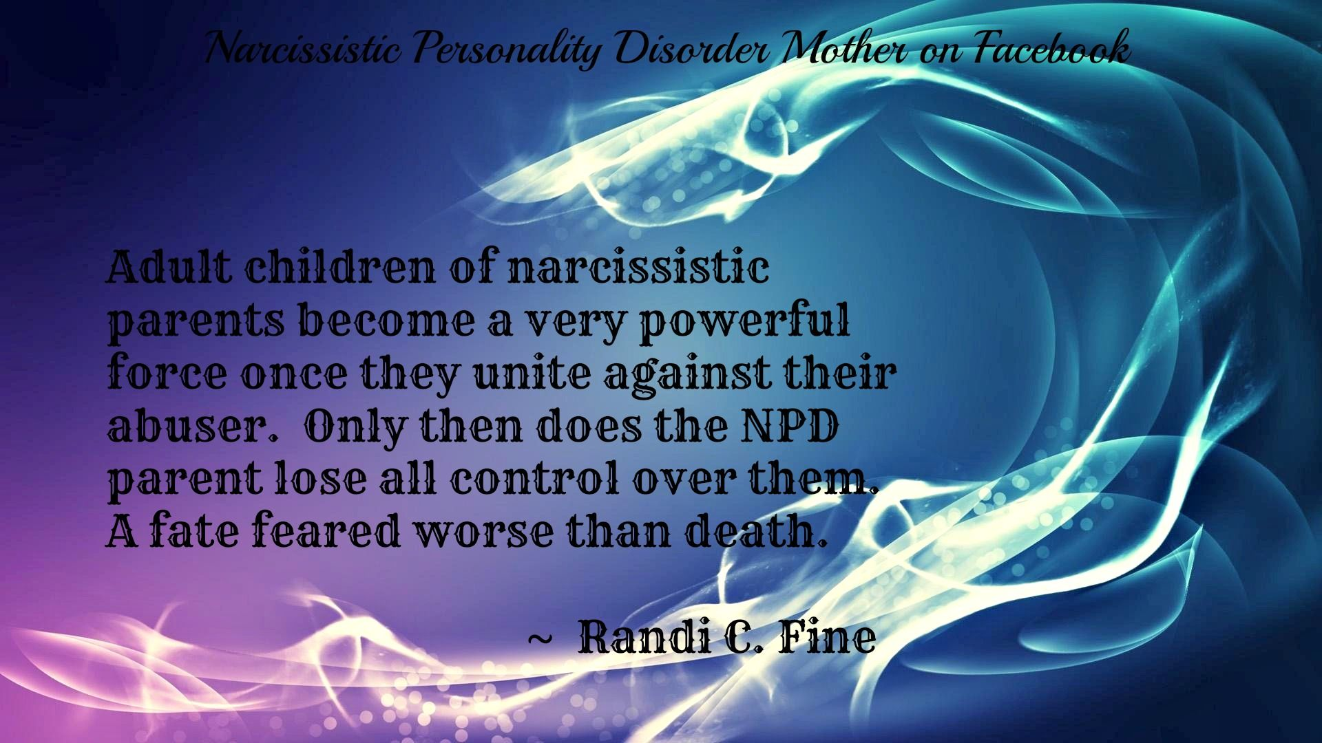 Daughters of mothers with narcissistic personality disorder
