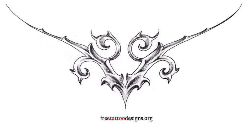 Gothic Design For The Lower Back Lower Back Tattoos Back Tattoos Back Tattoo Women