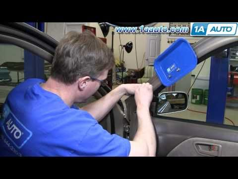 How To Install Replace Broken Side Rear View Mirror Toyota Camry 97
