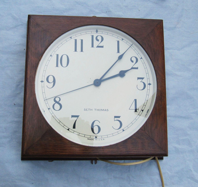 1930 S Office School Clock Clock Vintage Office Wall Clock