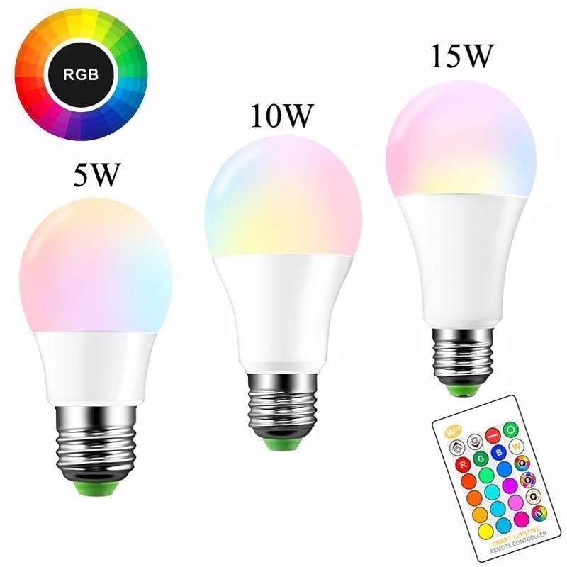 E27 Led 16 Color Changing Rgb Magic Light Bulb Lamp 5 10 15w 85