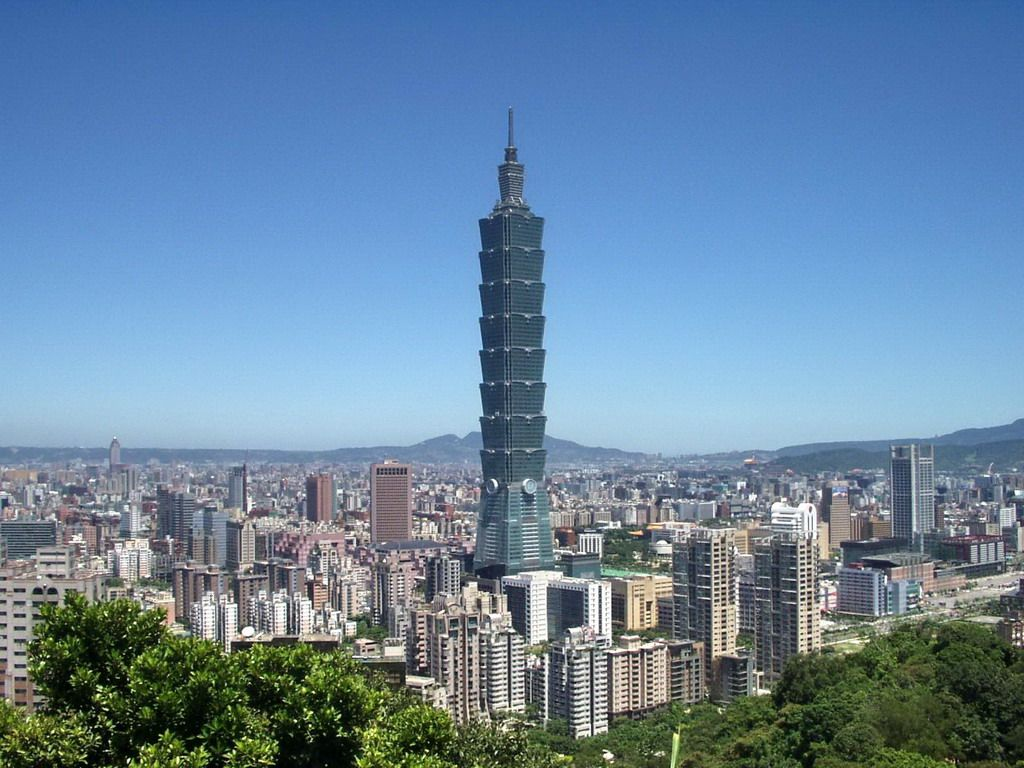 Taipei 101, located in Taipei, Taiwan (constructed in 2004) stands at 509