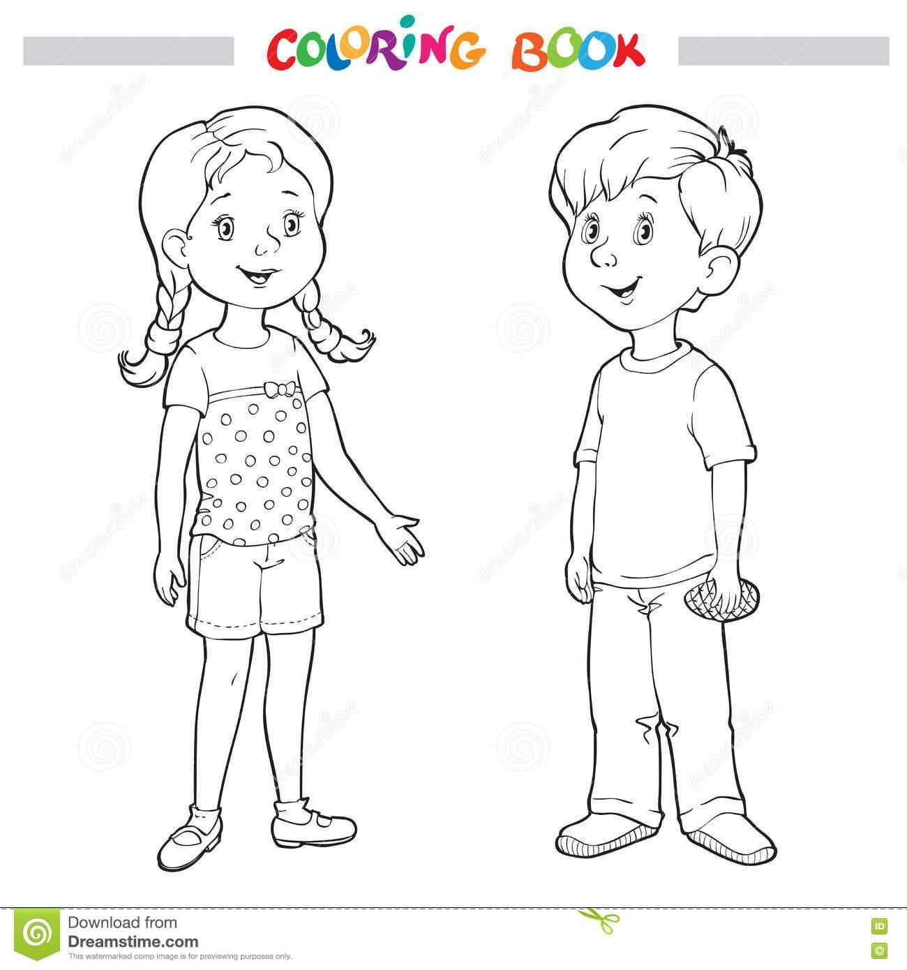 51 Coloring Page Boy And Girl Boy And Girl Drawing Coloring Pages Coloring Pages For Girls