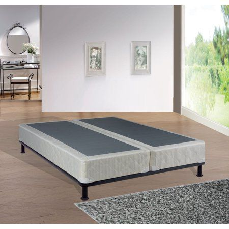 "WAYTON, 8"" Assembled Split Wood Box Spring/Foundation for Mattress, Full Size - Walmart.com"