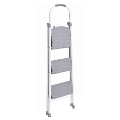 Astounding Rubbermaid Steel Step Stool 3 Step Silver Products Machost Co Dining Chair Design Ideas Machostcouk