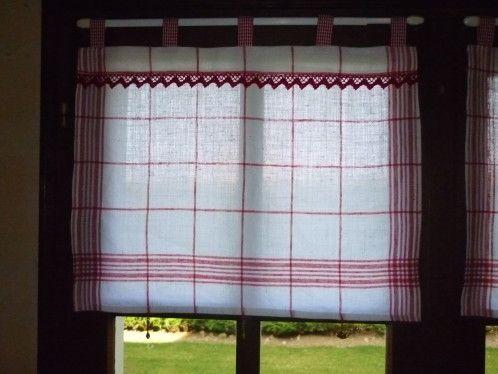 nouveaux rideaux r alis s avec deux torchons couper en. Black Bedroom Furniture Sets. Home Design Ideas