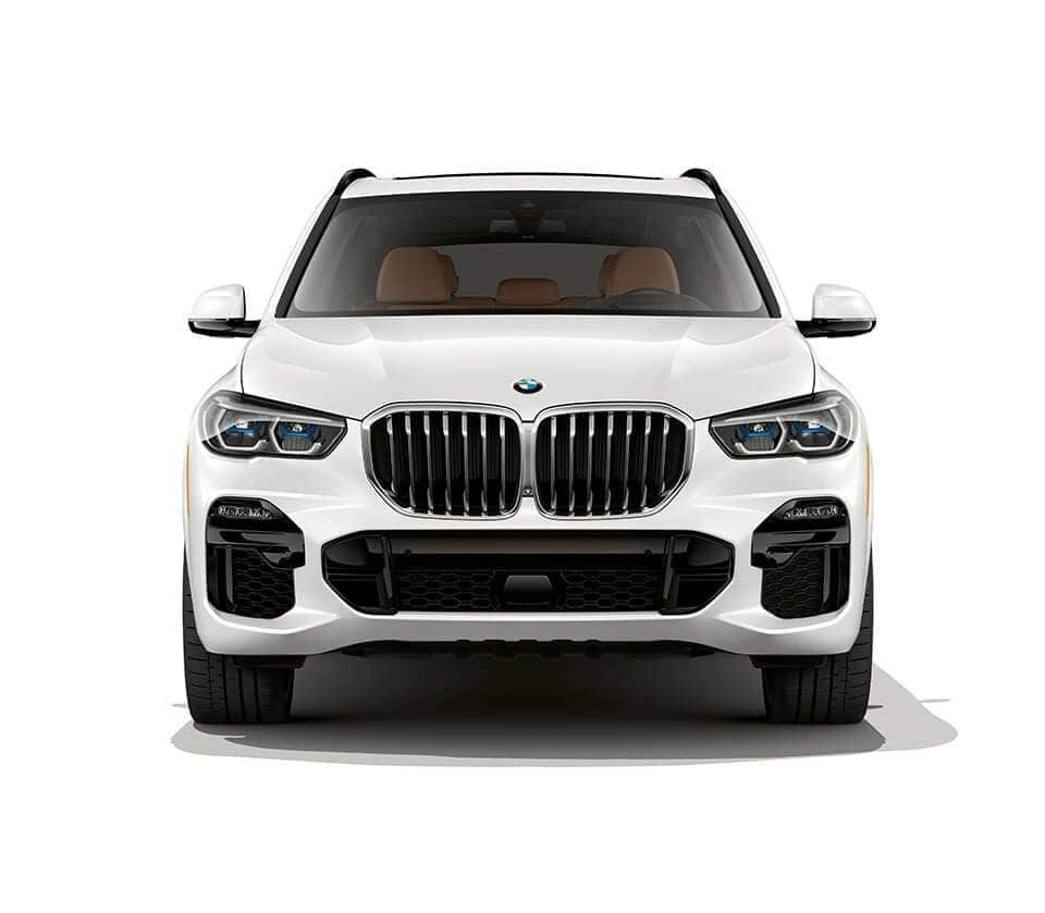 Front View Of 2019 BMW X5 In Mineral White Metallic