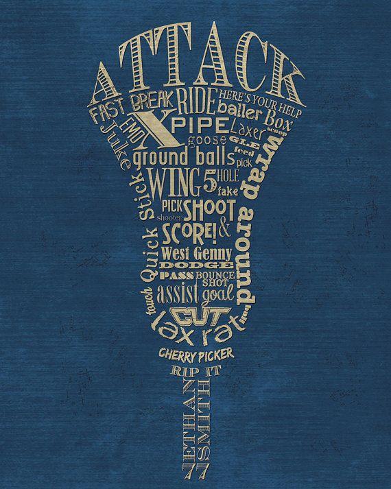 Lacrosse Quotes Custom Lacrosse Attack Attackman Word Artshaunasmithdesigns