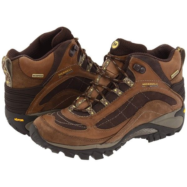 Merrell Siren Waterproof Mid Leather (Brown) Women's Lace-up Boots ($140)