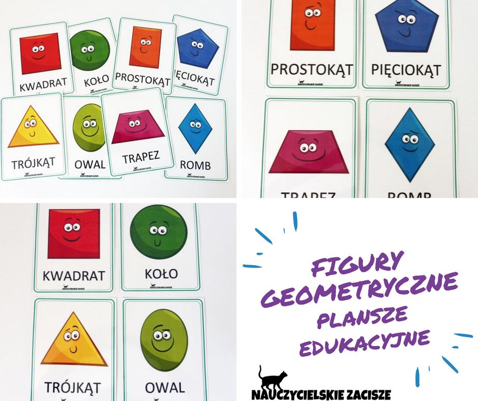 Figury Geometryczne Plansze Edukacyjne Math Preschool