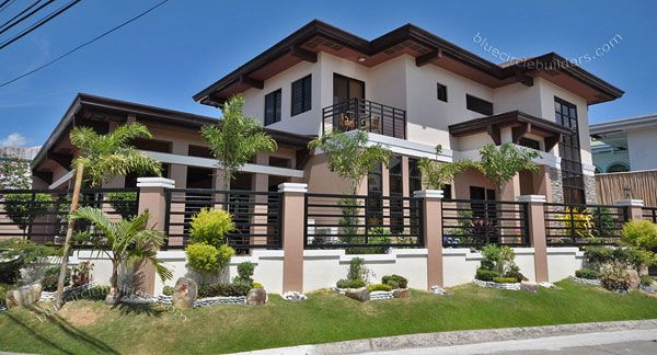 Custom Built Home With Private Swimming Pool Philippines Brick Exterior House Simple House Exterior Tropical House Design